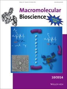 Cover picture in Marcomolecular Bioscience - Heller et al. 2014